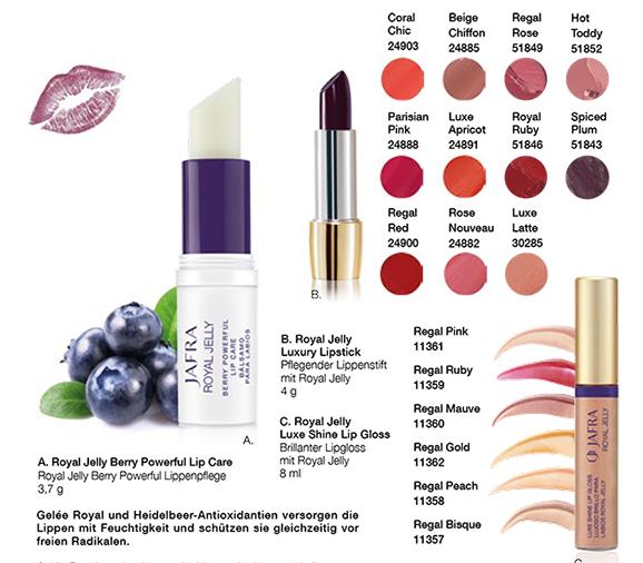 JAFRA Royal Jelly Lip Care + Color Set